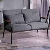 沙發椅 北歐簡約現代布藝沙發客廳小戶型鐵藝單人雙人位臥室女簡易輕奢椅【幸福小屋】