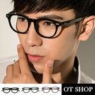 OT SHOP眼鏡框‧中性情侶款‧金屬圓...