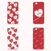 韓國 紅白愛心 雙層防摔 手機殼│iPhone 5S SE 6S 7 8 Plus X XS MAX XR│z8379