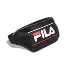 Fila 腰包 Leather Crossbody Bag 黑 白 紅 男女款 皮革 斜跨包 運動休閒 【ACS】 BWU3023BK