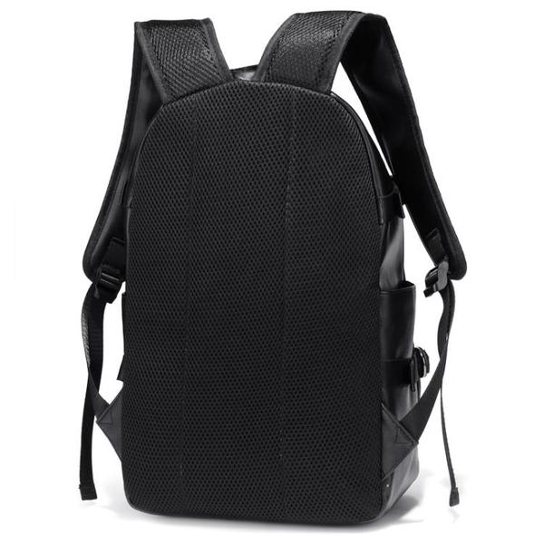 後背包 2019新款雙肩包男時尚潮流旅行包男士電腦背包pu皮簡約大學生書包 印象家品