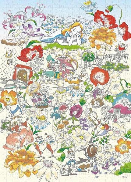 【拼圖總動員 PUZZLE STORY】Floral Daydream 日本進口拼圖/Epoch/愛麗絲夢遊仙境/500P/布面
