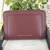 【直飛現貨 正品保證】小CK 拉環皮夾 錢包(酒紅色)CK6-10770380 皮夾 皮包