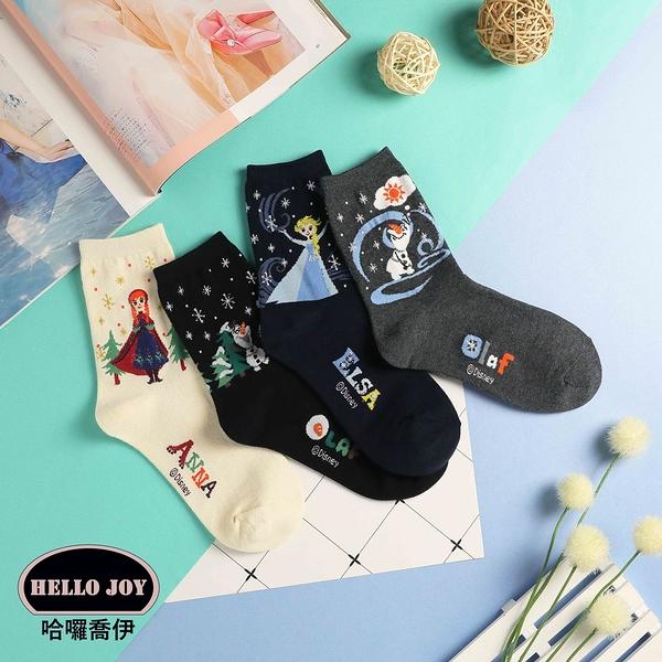 【正韓直送】迪士尼冰雪奇緣 韓國襪子 中筒襪 ELSA 安娜 雪寶 長襪 棉襪 哈囉喬伊 D47