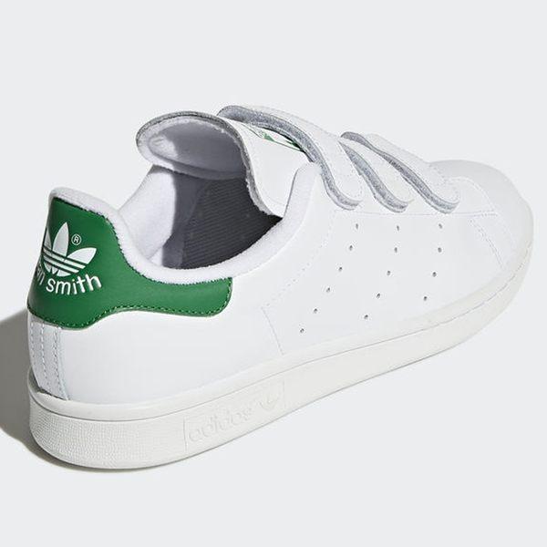 ★現貨在庫★ Adidas STAN SMITH 男鞋 女鞋 慢跑 休閒 經典 魔鬼氈 白 綠 【運動世界】 S75187