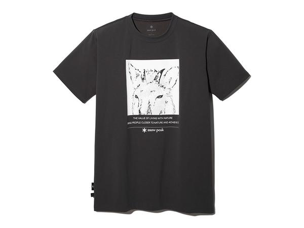 [好也戶外]Snow Peak 印花排汗短袖T-日本髭羚 碳黑/象牙白/棕 NO.TT2110-TS010CH/IV/PR