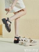 羅馬涼鞋超火運動涼鞋女外穿平底2021夏季新款百搭厚底網紅時裝鏤空羅馬鞋 迷你屋 新品
