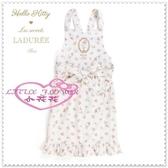 小花花日本精品♥ Hello Kitty LADUREE 聯名 圍裙工作服 清潔衣 工作衣 馬卡龍89942208