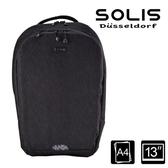 【南紡購物中心】SOLIS【德克薩斯系列】平板電腦後背包 (牛仔黑)