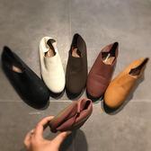 豆豆鞋 正韓奶奶鞋2019春款女鞋平底女士鞋子新款 百搭 護士鞋豆豆鞋【年中慶降價】