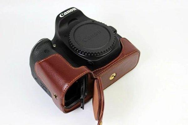 佳能6Dmark ii相機包6d2底座6d皮套5D4 5DS保護套半套單反5d3底座 時尚教主