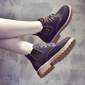 短靴—新款秋冬馬丁靴女英倫風韓版百搭加絨靴子女切爾西短靴女鞋子 依夏嚴選