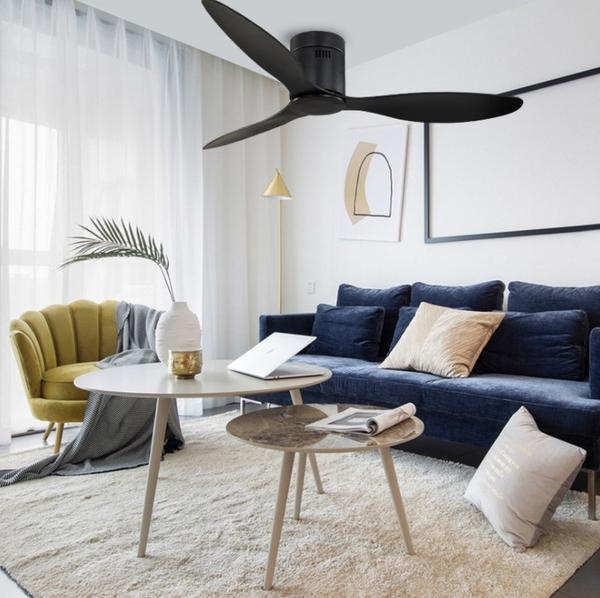 【預購】北歐工業52吋吸頂吊扇燈-現代簡約DC變頻電風扇燈客廳餐廳風扇吊燈