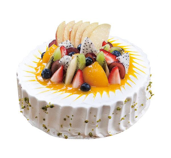 【上城蛋糕】生日蛋糕 限自取 水果花園8吋 戚風蛋糕