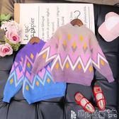女童毛衣 女童毛衣套頭秋冬韓版洋氣寶寶仿貂絨毛衣兒童打底針織衫寶貝計畫