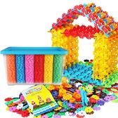 雪花片積木拼插小孩男孩子兒童1-2-3-6-7周歲寶寶益智力拼裝玩具 聖誕節好康熱銷
