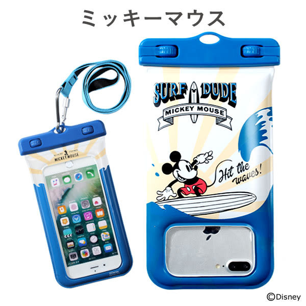 Hamee 自社製品 迪士尼 DIVAID IP68 防水套 手機袋 萬用保護套 愛麗兒 (小美人魚) 566-844632