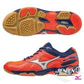 美津濃 MIZUNO 女排球鞋 Wave Twister 4 (橘/深藍) 入門基本型款 V1GC157067【 胖媛的店 】