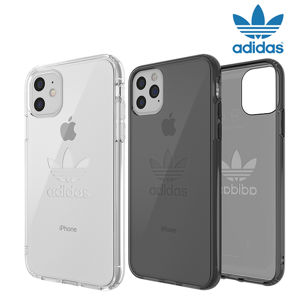 【adidas】ORIGINAL大三葉草透明手機保護殼情侶運動潮流經典復古IPHONE11/ PRO / PROMAX