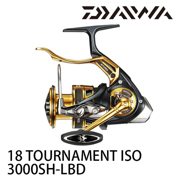 漁拓釣具 DAIWA 18 TOURNAMENT ISO 3000SH-LBD (手煞捲線器) #紅蟳