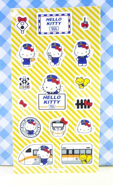 【震撼精品百貨】Hello Kitty 凱蒂貓~KITTY貼紙-太魯閣站長HELLO