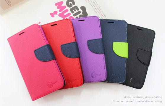 【愛瘋潮】ASUS ZenFone 3 ZS550ML 經典書本雙色磁釦側翻可站立皮套 手機殼
