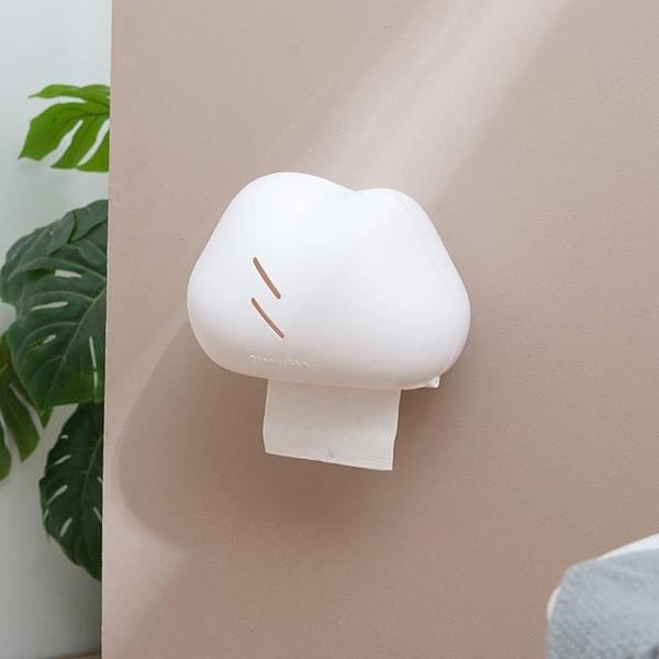 紙巾架 創意云朵紙巾盒壁掛家用浴室衛生間免打孔防水抽紙盒置物架卷紙筒