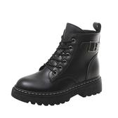 馬丁靴女英倫風2019新款冬季百搭加絨網紅短靴秋季黑色帥氣鞋子潮