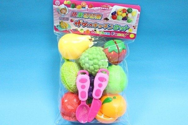 蔬果切切樂 ST-848 袋裝水果切切樂 小廚師玩具 家家酒玩具(水果系列)/一袋入{促180}