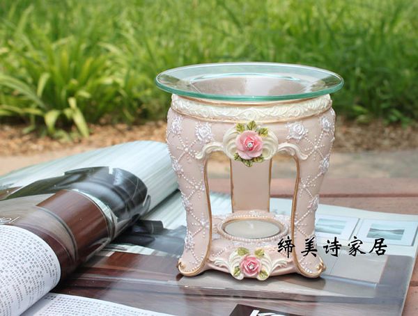 朱莉亞系列 歐式田園彩繪玫瑰樹脂香薰爐