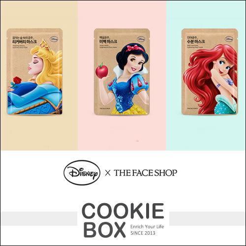 韓國 THE FACE SHOP X Disney 迪士尼 公主 系列 面膜 25g 臉部 保濕 *餅乾盒子*