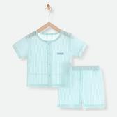 嬰兒衣服夏季薄款新生兒分體短袖夏天睡衣透氣空調服純棉寶寶夏裝 幸福第一站