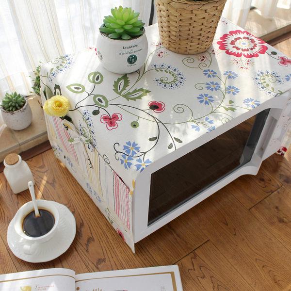可愛時尚棉麻蓋布1 餐具 微波爐 烤箱 冰箱 (33*105cm)