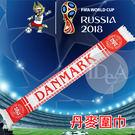 2018年俄羅斯世界盃足球賽 丹麥紀念版 國家隊 圍巾145*18cm 世足賽 世界盃運動加油助威吶喊 超拉風