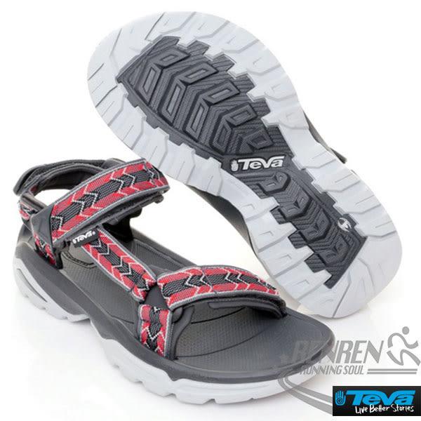 TEVA  男休閒涼鞋 TERRA FI 4 (菱格紅) 專業戶外水系列 耐磨抗菌TV1004485CTRR