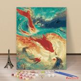 油畫 diy數字油畫 手繪手工填色數碼油彩畫客廳動漫人物風景花卉裝飾畫T 多款