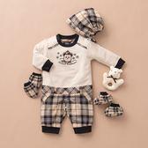 【金安德森】秋冬新生兒多件組禮盒-聖誕熊長兔裝(共二色)