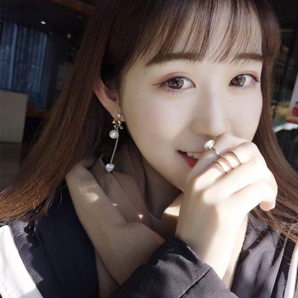 韓國 愛心 翅膀 丘比特之箭 珍珠 蝴蝶結 925純銀 耳環 耳墜 耳夾 垂墜式耳 夾式耳環