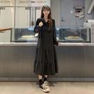 洋裝 復古 顯瘦遮肚減齡連衣裙閨蜜裙R028-B依品國際