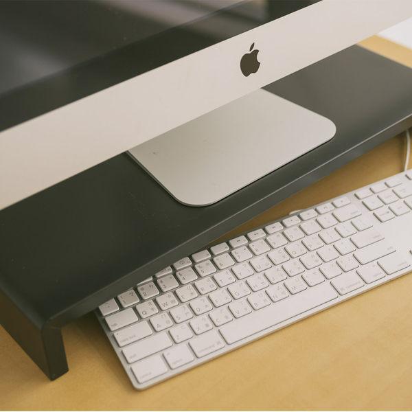 MIT台灣製 螢幕架 桌上架 電腦桌【I0029】高質感LCD螢幕架-黑  收納專科