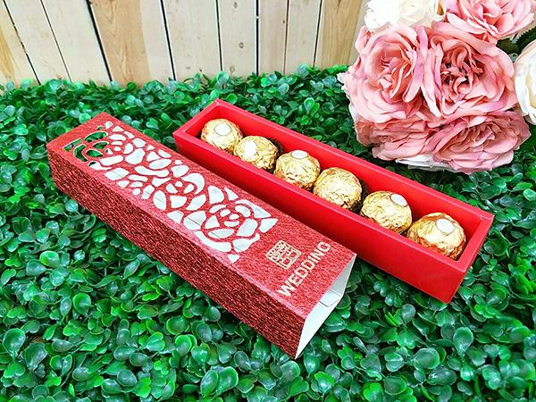 玫瑰長條喜糖盒 婚禮小物 二次進場 開幕禮 姊妹禮 包裝盒 生日 耶誕節【皇家結婚百貨】