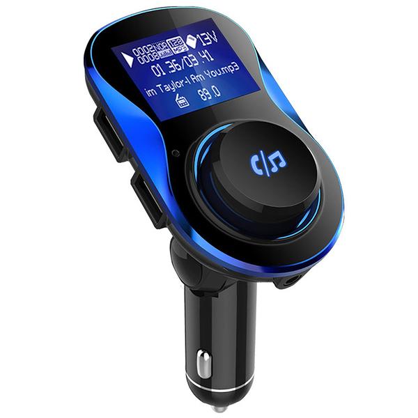 車用MP3 藍芽FM發射器 電壓監測 雙USB 旋轉大按鍵【CB0017】音樂播放 藍芽免持 藍芽