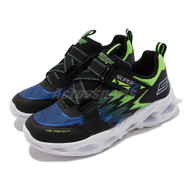 Skechers 燈鞋 S Lights Vortex-Flash-Zovix 黑 藍 4-7歲 小朋友 中童 兒童 運動鞋【ACS】 400601-LBBLM