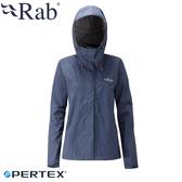 【RAB 英國 女 Downpour防水外套《暮藍》】QWF63/防風外套/防水/連帽外套