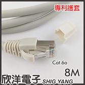 Twinnet Cat.6a雙遮蔽SFTP極速網路線 8M / 8米 附測試報告(含頭) 台灣製造(02-01-508)