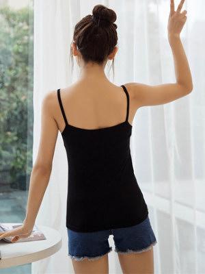 小吊帶背心女夏性感短款打底外穿內搭顯瘦百搭黑色白色8810NE228依佳衣