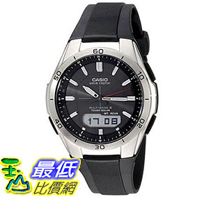 [美國直購] 手錶 Casio Mens WVA-M640-1ACR Wave Ceptor Stainless Steel Analog-Digital Watch with Black Resin Band
