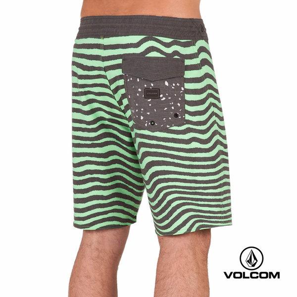 VOLCOM STONEYS 海灘褲-黑x綠 Meg Vibes 條紋