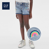 Gap 女童 做舊水洗五口袋牛仔短褲 539977-淺色水洗