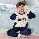 ★依咨戀小舖★兒童睡衣3男童5女童7秋冬季9加厚珊瑚絨保暖13歲法蘭絨家居服套裝